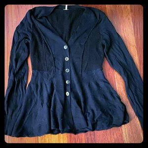 Free people navy blue sweater